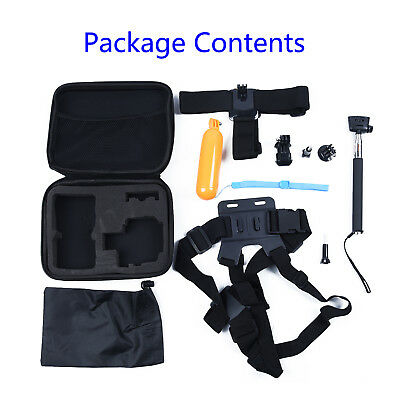 10 in1 Durable Accessories Kit for GoPro Hero 5 4 Session 3+ 3 YI Action Camera