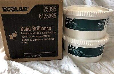 Lot of 2 ECOLAB Concentrated Solid Brilliance Rinse Additive New in Box