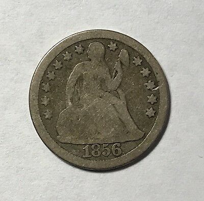 1856 SEATED LIBERTY DIME - LARGE DATE Lot#C001