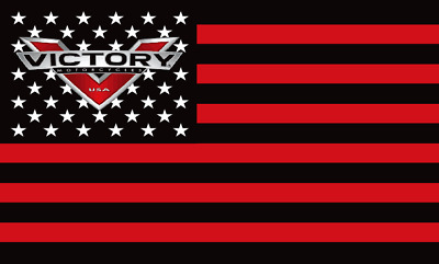 VICTORY MOTORCYCLE USA LOGO  3' x 5' FLAG/BANNER-$1 SHIPPING