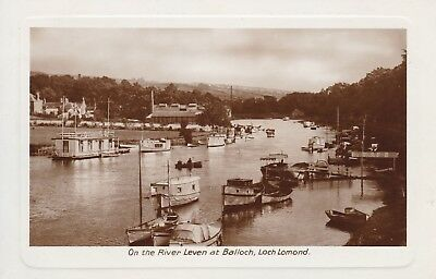 Balloch, On The River Leven, Boats - Lovely Real Photo