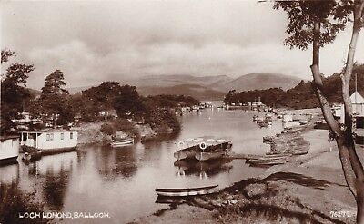 Balloch, Loch Lomond With Boats - Lovely Real Photo By J. M. & Co 1941