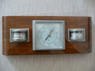 Art Deco Wetterstation Lufft Barometer Thermometer Hygrometer