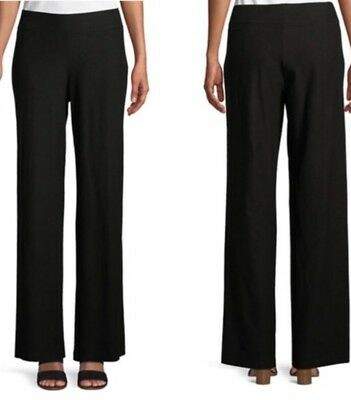1X NEW EILEEN FISHER ASH WASHABLE STRETCH CREPE MODERN WIDE LEG PANTS W// YOKE