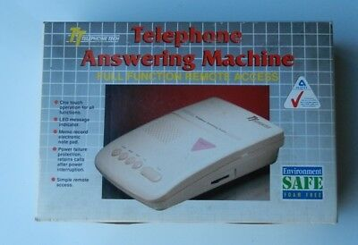 Telephone Answering Machine Full Function Remote Access Model # AM100 Retro