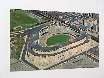 1964 Yankee Stadium Aerial View Postcard. Home of the NY Yankees. Bronx, NY.