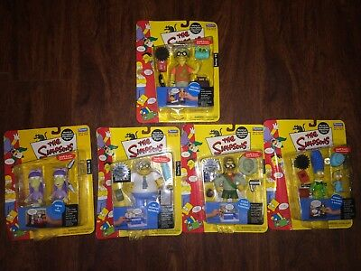 The Simpsons wave series 10 and series 8 Playmates Action Figure LOT NEW