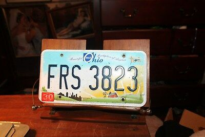 2013 Ohio License Plate  FRS 3823 (B)