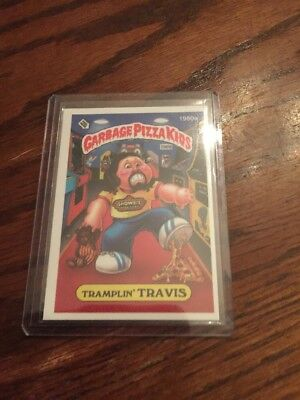 2016 GPK Card Garbage Pail Kids Pizza Tramplin Travis Bonus 1980a ! Showbiz 2015