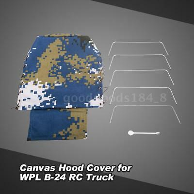 Canvas Truck Hood Cover for WPL B-24 1/16 RC Military Truck Car Newest H2Z8