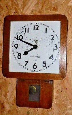 Vintage 8-Day Seth Thomas Wall Clock Regulator Working Short Drop Wembly 3