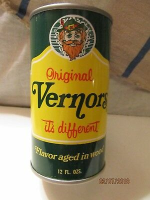 Vintage Original Vernor's Ginger Ale Steel Pop Can Bank