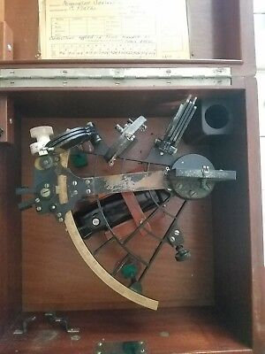 Vintage C. Plath Hamburg Germany Sextant Maritime Navigational Instrument 1953