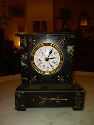 French antique little  marble clock pendulum Napoléon III