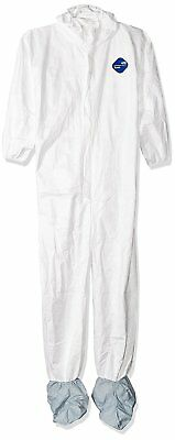 DuPont TY122S Disposable Elastic Wrist, Bootie & Hood White Tyvek Coverall Suit