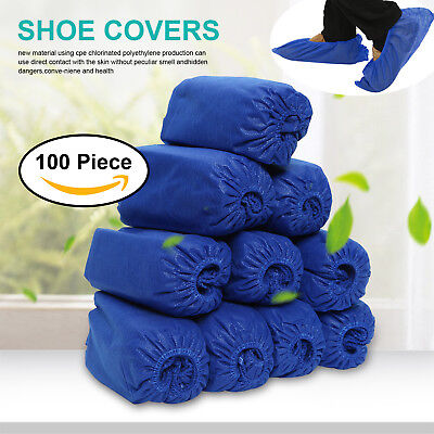 100 Disposable Boot & Shoe Covers Non-Slip / Medical / Extra Large Up To Size XL