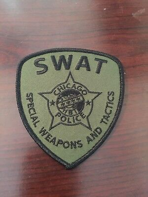 Chicago Police Swat Shoulder Patch Subdued