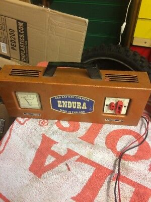 Vintage 6/12 Volt Car or Motorcycle Battery Charger Endura Made In England