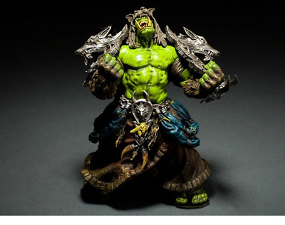 World of Warcraft Orc Shaman Action Figur grün braun Wolfsfell Neu WoW Figuren