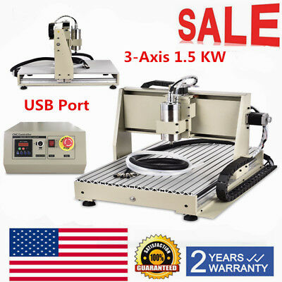 USB 3Axis 6040CNC Router Engraver Engraving Machine Milling Drilling Cutter1500W