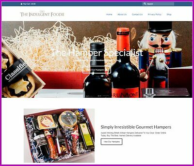 "Fully Stocked Dropshipping GOURMET HAMPERS Website Business. ""300 Hits A Day"""