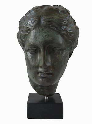 Hygieia bust with bronze color effect - Ancient Greek Goddess of health Hygeia