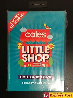 New Coles Little Shop Collector'S Case! New & Sealed! Fits 30 Mini Collectables
