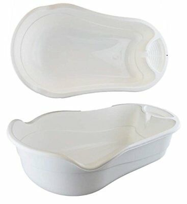 White Baby Bathtub Baby Bath Suitable From Birth Easy Support Soap Tray