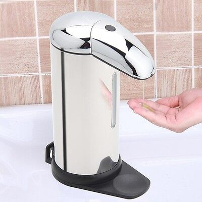500ml Stainless Steel Touch-free Automatic Sensor Soap & Sanitizer Dispenser