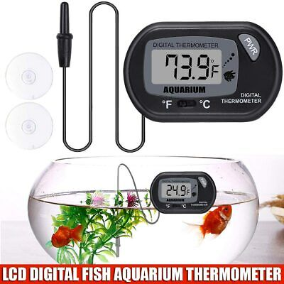Brand New LCD Digital Water Tank Thermometer For Fish Aquarium UK Seller