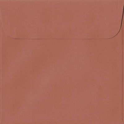 Copper 160mm x 160mm Peel/Seal 100gsm Square Paper Coloured Envelopes