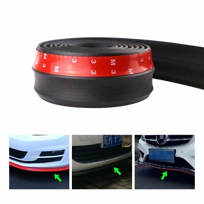 Car Front Lip Bumper Rubber Strip Protector With 3M Adhesive Car Vehicle Special