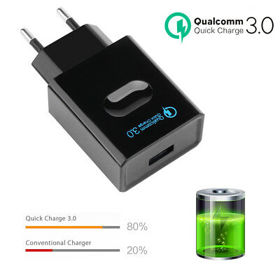 Quick Charge 3.0 USB Wall Charger EU Plug Qualcomm QC3.0 Tiny Travel Charger