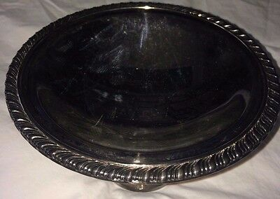 Oneida Silversmiths Footed Pedestal Silver plate Bowl