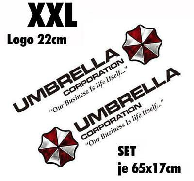 Resident Evil Umbrella Corporation Sticker Auto Aufkleber SET Car schwarz 90cm