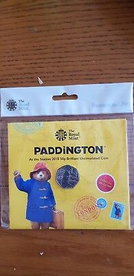 2018 Paddington Bear 50p pence Brilliant Uncirculated Mint Coin from Royal Mint