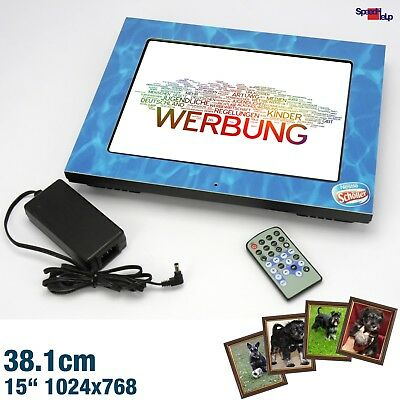 "15"" Compositor Pf10.271W Digital Foto Photo Frame Werbung Collage Fernbedienung"