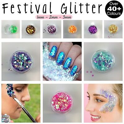 Festival Chunky Glitter Pot Face Paint Nail Art Eye Shadow Body Tattoo Cosmetic