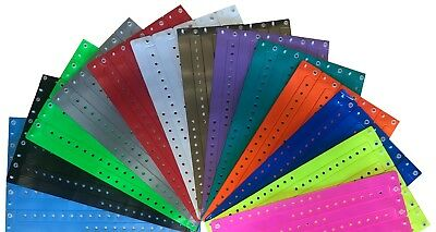 50 Plain L-Shaped Vinyl Plastic ID Wristbands for Events, Parties, Nightclubs