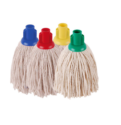 Plastic Cotton Mop Head with Push Fit Universal Socket Shafts