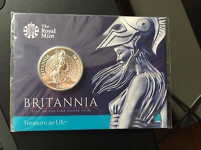 Britannia 2015 UK £50 Fine Silver Coin Original Royal Mint Sealed Pack