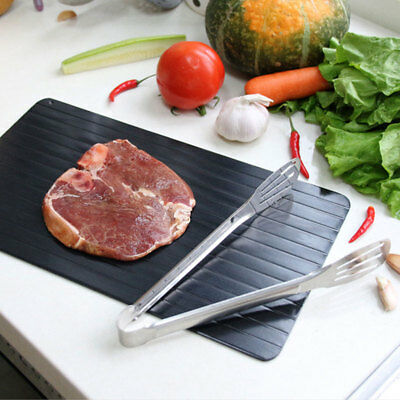 New Aluminum Thawing Plate Fast Defrosting Tray Thaw Defrost Meat or Frozen Food