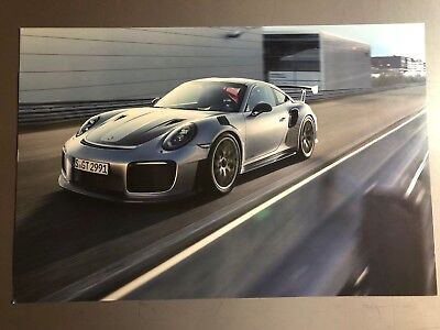 2018 Porsche 911 GT2 RS Coupe Showroom Advertising Poster RARE!! Awesome L@@K