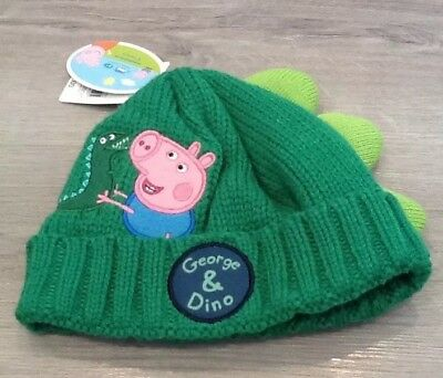 3f4efac5 Mothercare Boys Peppa Pig George & Dino Woollen Hat Age 1-3 New With Tags