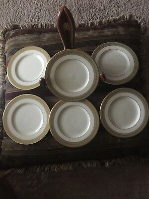 Lenox Greenfield  with golden rim Bread & Butter Plates 6 1/2 Set of 6