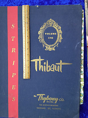 Thibaut Thybony Chicago wall covering paper sample bk Stripes mid-century modern