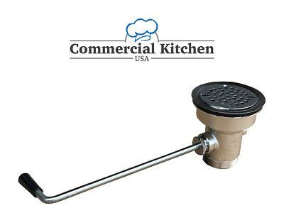 Lever Waste Drain with Twist Handle For Commercial Kitchen Sinks FREE SHIPPING!