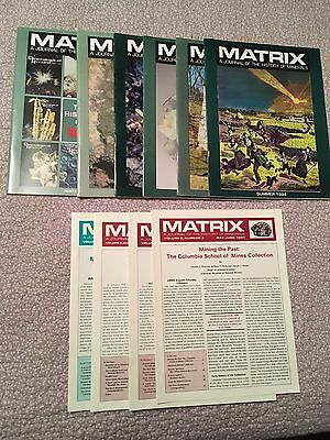 Matrix-A Journal of the History of Minerals 1991-1995