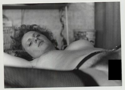 Dreamy Looking Nude On Couch / Incredible Eyes (Vintage Photo DDR B/W 1970s)