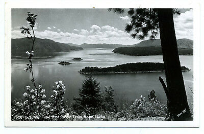 "ID Idaho ""Beautiful Lake Pend Oreille North Idaho"" Ross Hall Real Photo RPPC"